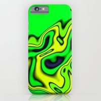 iPhone & iPod Case featuring Green Yellow and blue abstract by Christy Leigh