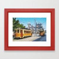 Old tramways V Framed Art Print