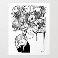 Art Print featuring A Heavy Heart by Hatrobot