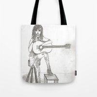 Now If Only I Could Play Guitar (sketch) Tote Bag