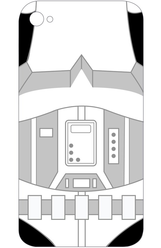 Stormtrooper iPhone Case Art Print