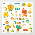football time Canvas Print