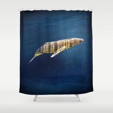 A Whale Dreams of the Forest Shower Curtain