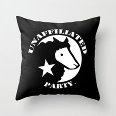 UNAFFILIATED PARTY STENCIL Throw Pillow