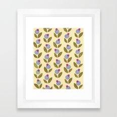 Tiny Flower stamp pattern Framed Art Print