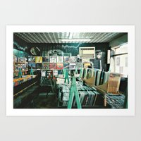The Record Store Art Print