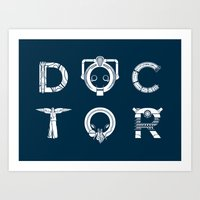 DOCTOR - Clean Tee Print… Art Print