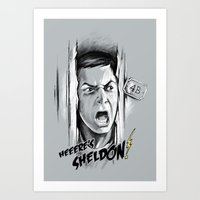 Heeere's Sheldon! Art Print