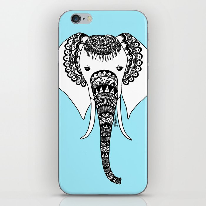 Henna Elephant Head iphone case skin