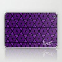 Kagome Greek Fret ... Purple Laptop & iPad Skin