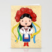 A Ukrainian Girl Stationery Cards