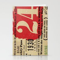 Vintage Tickets Stationery Cards