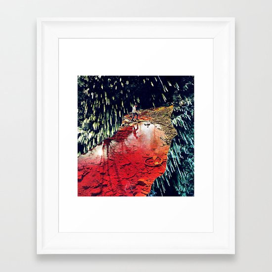 receptors - a hugo barros remix :) Framed Art Print