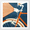 Bicycle Light Art Print