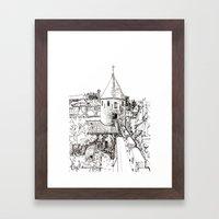 garden tower Framed Art Print