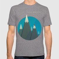 Take breaks. A PSA for stressed creatives. Mens Fitted Tee Tri-Grey SMALL
