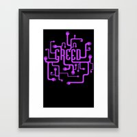 Greed Framed Art Print