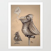 Bird sketch I Art Print
