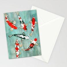 Le ballet des carpes koi Stationery Cards