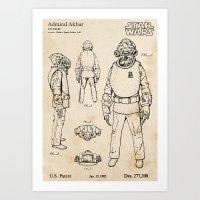 Admiral Akbar  - Vintage… Art Print