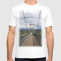 Across The Bridge And Be… Mens Fitted Tee White SMALL
