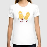 In the nuts Womens Fitted Tee White SMALL