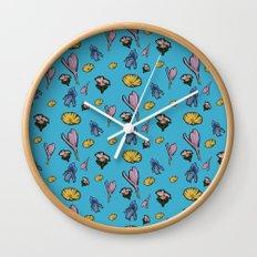 cutout flowers Wall Clock