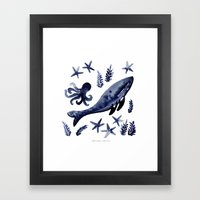 Blue Marina Framed Art Print