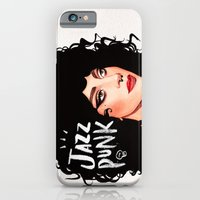 iPhone Cases featuring JazzPunk by Helen Green