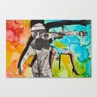 We Escape: Silhouette Series #10 Canvas Print
