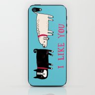 iPhone & iPod Skin featuring I Like You. by Gemma Correll
