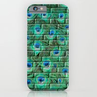 Brick Peacock Feathers iPhone 6 Slim Case