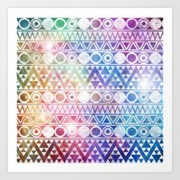 Tribal Stardust  Art Print