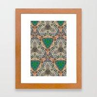 Green Bits Framed Art Print