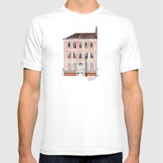 Queens Square Bristol by Charlotte Vallance Mens Fitted Tee White SMALL