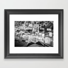 Chicago from the top Framed Art Print