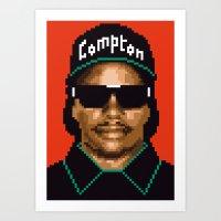 Compton city G Art Print