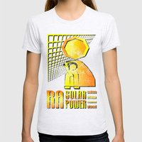 Ra Solar Power Womens Fitted Tee Ash Grey SMALL
