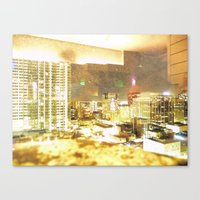 Denver Through A Dirty W… Canvas Print