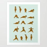 Yoga Bear! Art Print