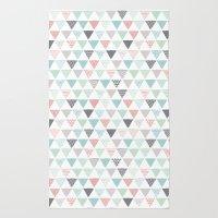 Geometric Pastel Triangl… Rug