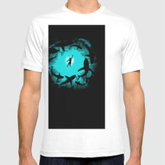 Sweet Pool White Mens Fitted Tee SMALL