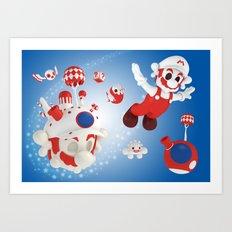 Super Fly Skull Mario Art Print