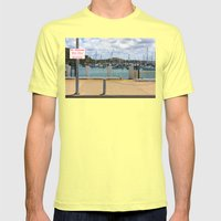 No Parking At The Harbor Mens Fitted Tee Lemon SMALL