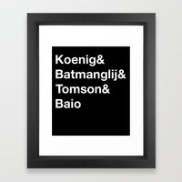Helvetica Weekend  Framed Art Print
