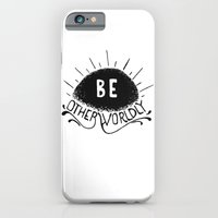 iPhone & iPod Case featuring Be Otherworldly (blk) by Victor Castro