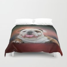 Hanging Out - Bulldog Duvet Cover