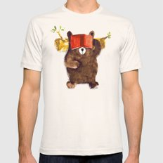 No Care Bear - My Sleepy Pet Mens Fitted Tee Natural SMALL