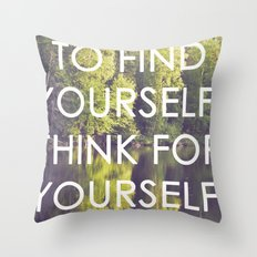 socrates + the wilderness Throw Pillow