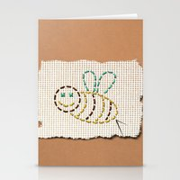 bee Stationery Cards featuring bee by gazonula